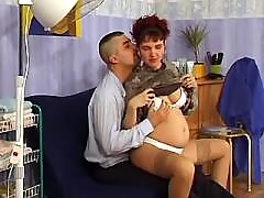 Pregnant girl seduces amateur guy