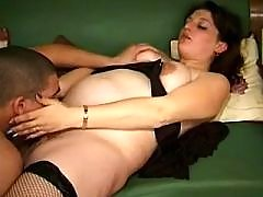 Dude fucks brunette pregnant lady